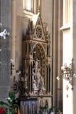 Altare dell'incrocio santo nella cattedrale di Zagabria Immagine Stock