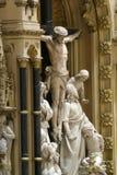 Altare dell'incrocio santo nella cattedrale di Zagabria Fotografie Stock Libere da Diritti