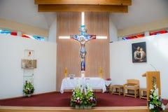 Altare dell'interno della chiesa Fotografia Stock Libera da Diritti