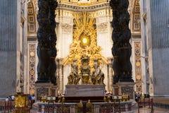 Altare della basilica dello St Peter a Roma Fotografia Stock