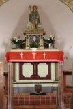 Altare della cappella Immagine Stock