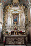Altare della cappella della nostra signora di pietà Mdina Fotografie Stock Libere da Diritti