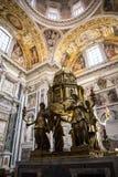 Altare della cappella di Sistine ed oratoria della natività nella basilica di Santa Maria Maggiori a Roma Italia Fotografie Stock