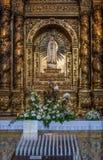 Altare della cappella della st John Evangelist College Church Fotografie Stock