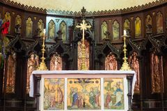 Altare della cattedrale anglicana della chiesa di Cristo, città di pietra, Zanzibar Fotografia Stock Libera da Diritti
