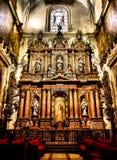 Altare della cattedrale della Siviglia Fotografie Stock Libere da Diritti