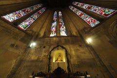 Altare della cattedrale di Arezzo dedicato alla st Donatus, scolpito in marmo dagli artisti fiorentini, di Aretine e di Sienese Fotografia Stock Libera da Diritti