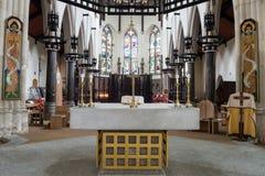 Altare della cattedrale di Plymouth Fotografie Stock Libere da Diritti