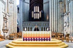 Altare della cattedrale di Ripon Fotografia Stock