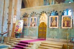 Altare della cattedrale di Svetitskhoveli Mtskheta, Georgia Fotografie Stock