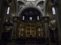 Altare della cattedrale a Valencia Fotografie Stock