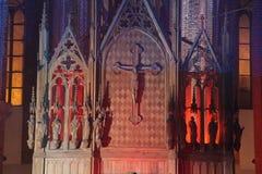 Altare della chiesa Immagini Stock