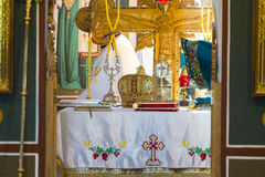Altare della chiesa Fotografia Stock