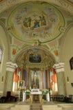 Altare della chiesa Immagini Stock Libere da Diritti