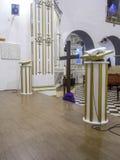 Altare della chiesa Fotografie Stock