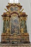 Altare della chiesa collegiale a Salisburgo, Austria Fotografia Stock Libera da Diritti