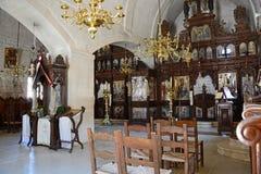 Altare della chiesa del monastero di Arkadi Immagine Stock