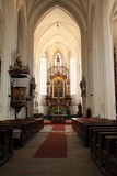 Altare della chiesa del presupposto Immagini Stock Libere da Diritti