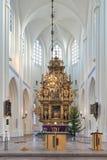 Altare della chiesa del ` s di St Peter a Malmo, Svezia Fotografia Stock Libera da Diritti