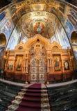 Altare della chiesa del salvatore su sangue rovesciato Fotografia Stock Libera da Diritti