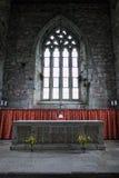 Altare della chiesa dell'abbazia di Iona, Scozia Fotografia Stock Libera da Diritti