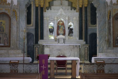 Altare della chiesa della nostra signora di aiuto in d'Ajuda Bahia di Arraial Fotografia Stock Libera da Diritti