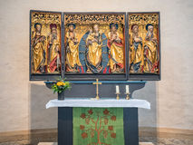 Altare della chiesa della st Michaelis a Hildesheim, Germania Immagini Stock Libere da Diritti