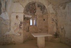 Altare della chiesa di Ayios Ioannis Theologos in stilo, Grecia Fotografia Stock