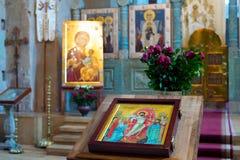 Altare della chiesa di Georgia Immagini Stock Libere da Diritti
