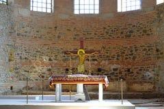 Altare della chiesa di Jesus Christ Crucifixion Immagine Stock Libera da Diritti