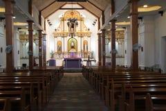 Altare della chiesa di Mahatao Immagine Stock
