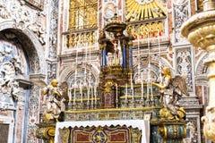 Altare della chiesa di Santa Caterina a Palermo L'Italia Fotografia Stock Libera da Diritti