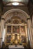 Altare della chiesa di Santa Maria in Obidos, Portogallo, Europa Immagini Stock Libere da Diritti