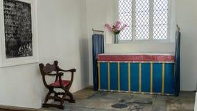 Altare della chiesa di vergine Maria benedetto a Somerset Fotografia Stock Libera da Diritti