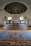 Altare della chiesa in Laangaryd in Halland, Svezia Immagini Stock