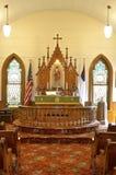 Altare della chiesa luterana Immagini Stock