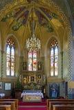 Altare della chiesa Maria del pellegrino al ` di Locherboden del ` Immagini Stock Libere da Diritti