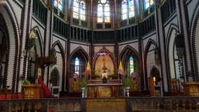 Altare della chiesa nel Myanmar Immagini Stock Libere da Diritti