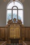 Altare della chiesa ricostruita, museo nazionale di Churchill, Fulton, sig.na Immagine Stock Libera da Diritti