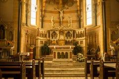 Altare della chiesa - romano Fotografia Stock