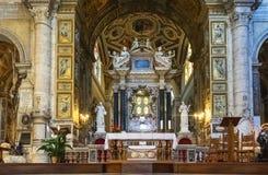 Altare della chiesa Santa Maria del Popolo Fotografia Stock Libera da Diritti