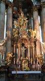Altare della chiesa della st Nicholas Orthodox, Mala Strana, Praga Fotografie Stock Libere da Diritti
