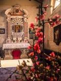Altare della chiesa votiva di St Mary del Alzana, f famosa Fotografia Stock