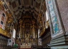 Altare della conduttura della cattedrale del ` s di Oporto Immagine Stock Libera da Diritti
