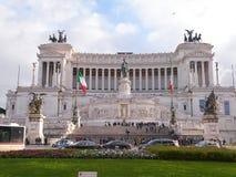 Altare della costruzione di patria, anche conosciuto come il monumento nazionale a Victor Emmanuel II a Roma, l'Italia Fotografia Stock Libera da Diritti