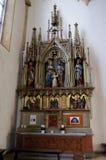 Altare della famiglia santa nella chiesa di parrocchia del sangue santo a Graz Fotografia Stock Libera da Diritti