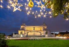 Altare della patria alla notte, Roma, Italia Fotografia Stock