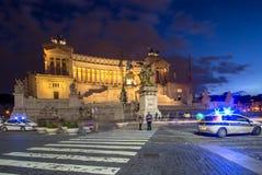 Altare della patria alla notte, Roma, Italia Immagini Stock Libere da Diritti