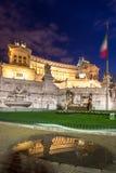 Altare della patria alla notte, Roma, Italia Fotografia Stock Libera da Diritti