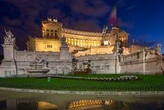 Altare della patria alla notte, Roma, Italia Immagine Stock Libera da Diritti